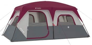 Columbia Red/Grey Best 8 Person Tent