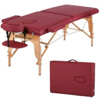 Massage Table Massage With 2 Foldable Height Adjustments