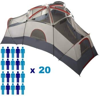 Huge Family Best 20 Person Tent With Separate Doors