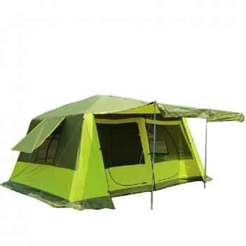 GRNTAMN Waterproof 10 Person Tent With Green Finish