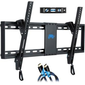"Mounting Dream Tilt TV Wall Mount Bracket Fits 16"" to 24"" Studs and Loading Capacity 132 lbs"