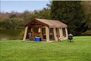 Large Family Cabin Tent With Front Porch