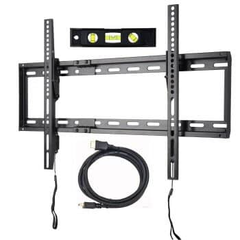 VideoSecu Mounts Tilt TV Wall Mount Bonus HDMI Cable and Bubble Level