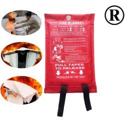 Inf-way Fire Blanket Fiberglass Fire Flame Retardant