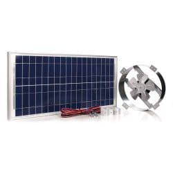 Amtrak Solar Powerful 40-Watt Galvanized Steel New fan