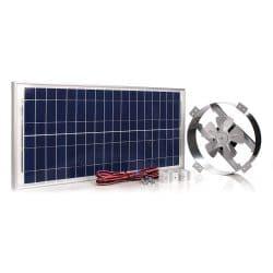 Amtrak Solar Powerful 40-Watt Galvanized Steel New fan