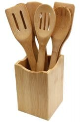 Olivia Italiana 7Pc. Bamboo Kitchen Utensils