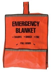 Safety Flag Emergency Fire Blanket and Pouch