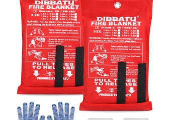 DIBBATU Fire Blanket Emergency Flame Retardant