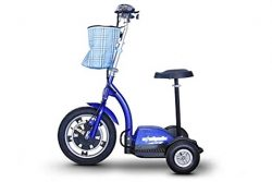 E-Wheels Electric Scooter with Seat, EW-18 3-Wheel Stand