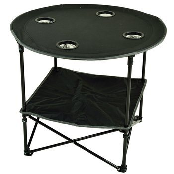 10. Picnic at Ascot 548-BLK Canvas Travel Folding Table
