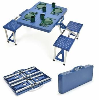 10. Trademark Innovations Portable Picnic Tables with 4 Seats