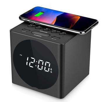10. Wireless Charging Dual Bluetooth Alarm Clock