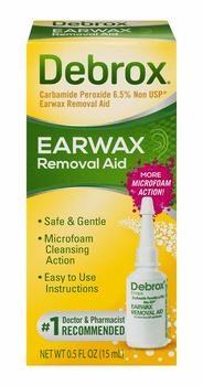 2. Debrox Earwax Removal Aid Drops