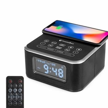 2. InstaBox Wireless Charging Alarm Clock