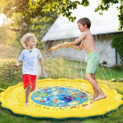 FinalBase Splash Pad, 68in Best Sprinkle And Splash Play Mats