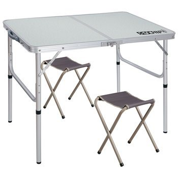 3. REDCAMP Aluminum Folding Picnic Tables