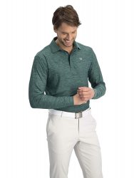 Men's Dry Fit Long Sleeve Polo Golf Shirt