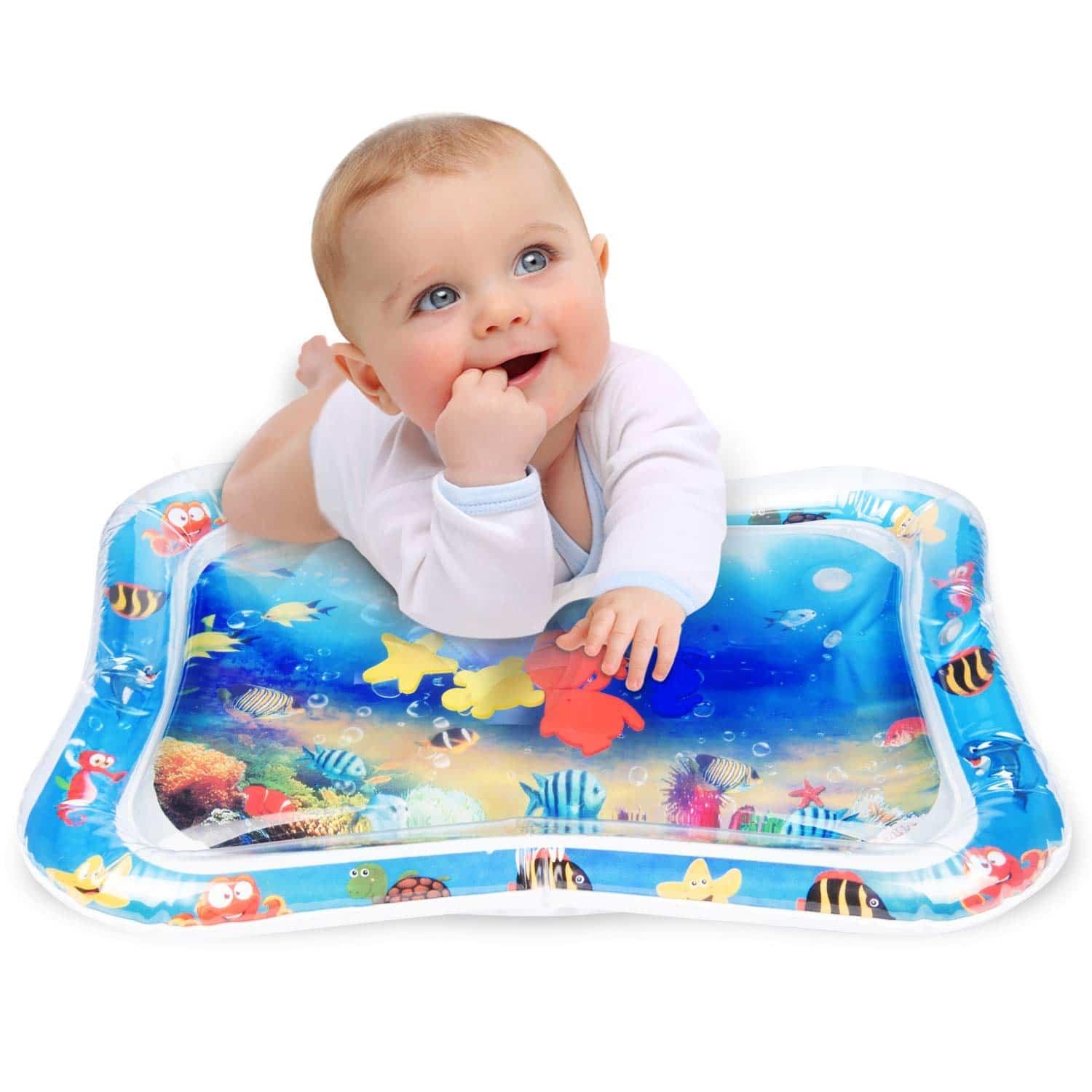Tummy Time Inflatable Water Play Mat Large Size for Babies Infants Toddlers Kids