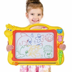 Magnetic Doodle Drawing Board For Kid 12.8 Inch Drawing Area