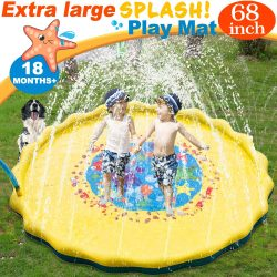 68-Inch Large Best Sprinkle and Splash Play Mats Inflatable