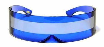 5. Futuristic Shield Sunglasses Monoblock Cyclops - Robot Glasses