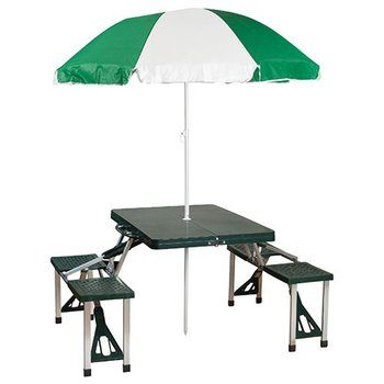 6. Stansport Portable Picnic Table and Umbrella Comb