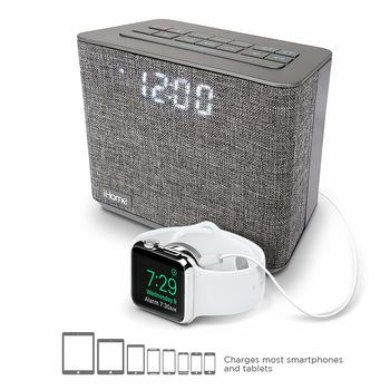 6. iHome Bluetooth Dual Alarm FM Clock