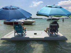 Inflatable Best Floating Fishing Platforms With Pump