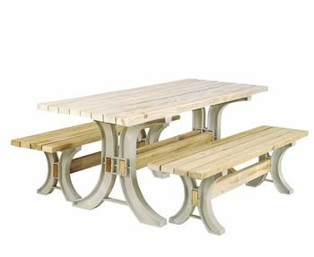 7. 2×4basics Custom Folding Picnic Table Kit