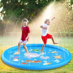"Aitey Best Sprinkle and Splash Play Mats 68"" Sprinkler Pad"