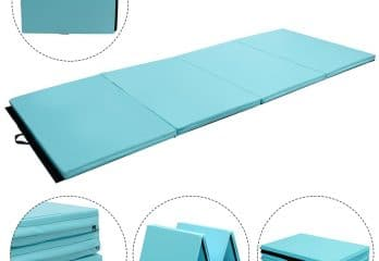 Giantex 4'x10'x2 Gymnastics Mat Folding Panel Thick Gym Fitness Exercise
