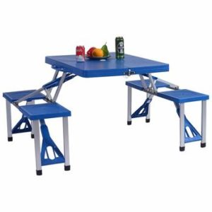 9. Gymax Portable Picnic Tables