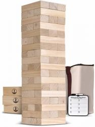 1. GoSports Giant Wooden Toppling Tower - Best Jenga Games