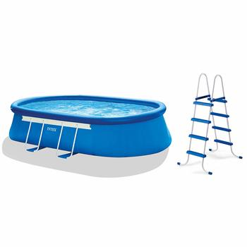 1. Intex Oval Frame Pool Set, 18-Feet by 10-Feet by 42-Inch