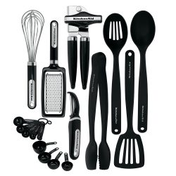 1. Kitchen Aid 17-Piece Tools and Gadget