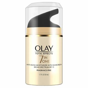 12. Face Moisturizer by Olay Total Effects Anti-Aging Face Moisturizer with SPF 15