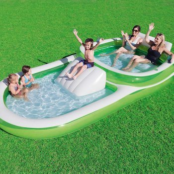 4. Bestway H2OGO! Two-In-One Wide Inflatable Family Outdoor Pool