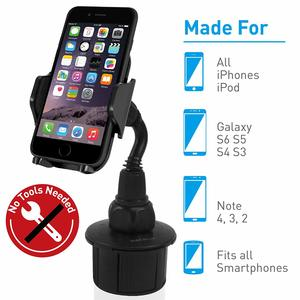 4. Macally Adjustable Automobile Cup Holder Phone Mount