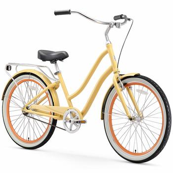 4. Sixthreezero EVRYjourney Women's Step-Through Alloy Hybrid Cruiser Bicycle