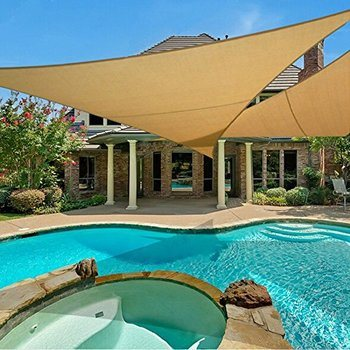 4. e.share 20' X 20' X 20' Sun Shade Sail Uv Top Outdoor Canopy Patio Lawn