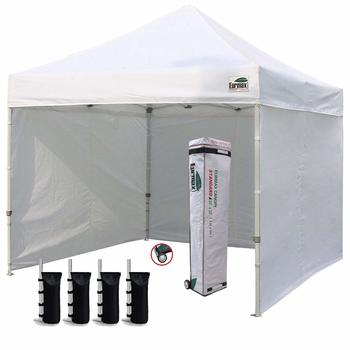 5. Eurmax 10'x10' Ez Pop-up Canopy Tent Commercial Instant Canopies with 4 Removable
