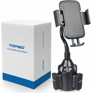 5. TOPGO [Upgraded] Best Cup Holder Phone Mount