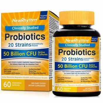 8. NewRhythm Probiotics 50 Billion CFU 20 Strains