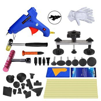 9. Super PDR 31pcs Auto Dent Puller Paintless Dent Repair Tools kit