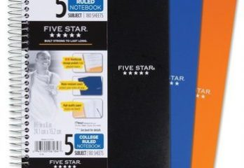 10. Five Star Spiral 5-Subject Notebook