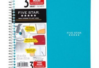 10. Five Star Spiral Notebook 3-Subject