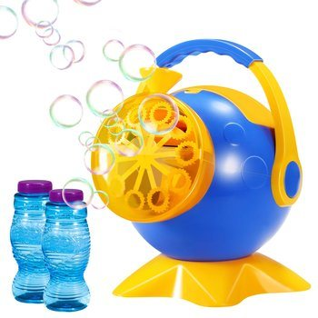 10. Geekper Bubble Machine, Automatic Bubble Blower for Kids