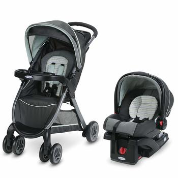 4. Graco FastAction Fold Click Connect Travel System Stroller
