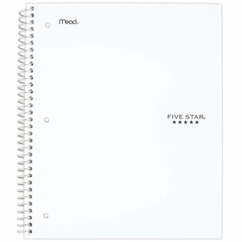 7. Five Star Spiral Notebooks - Best 3-Subject Notebook